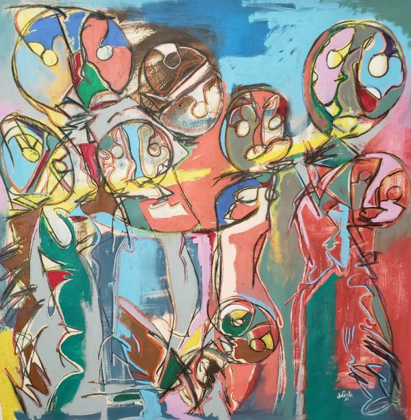 contemporary figurative abstract painting